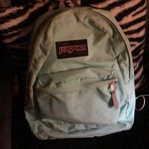 Jansport Backpack (aqua/mint blue)